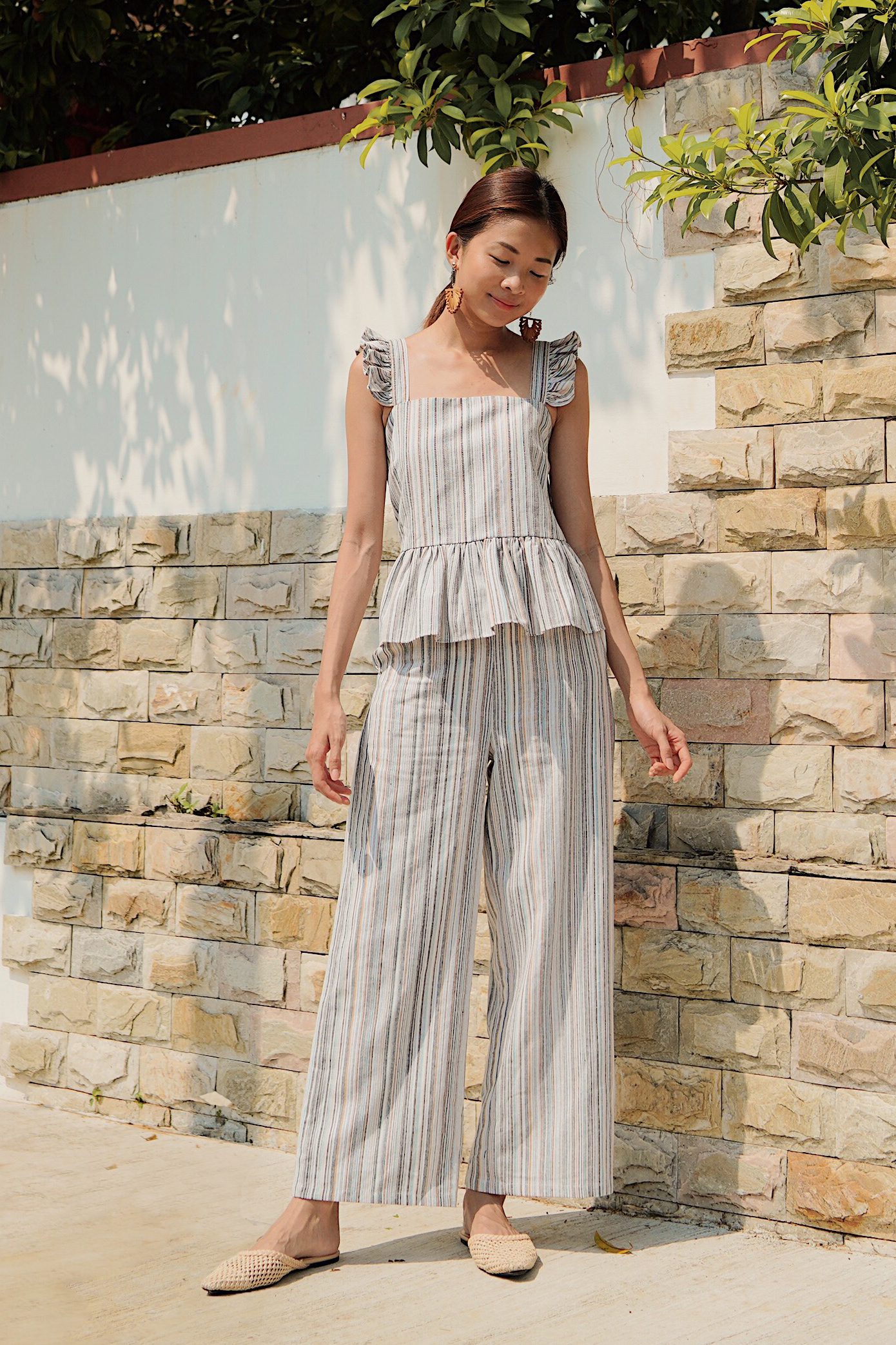 Tarin Linen Stripes Pants
