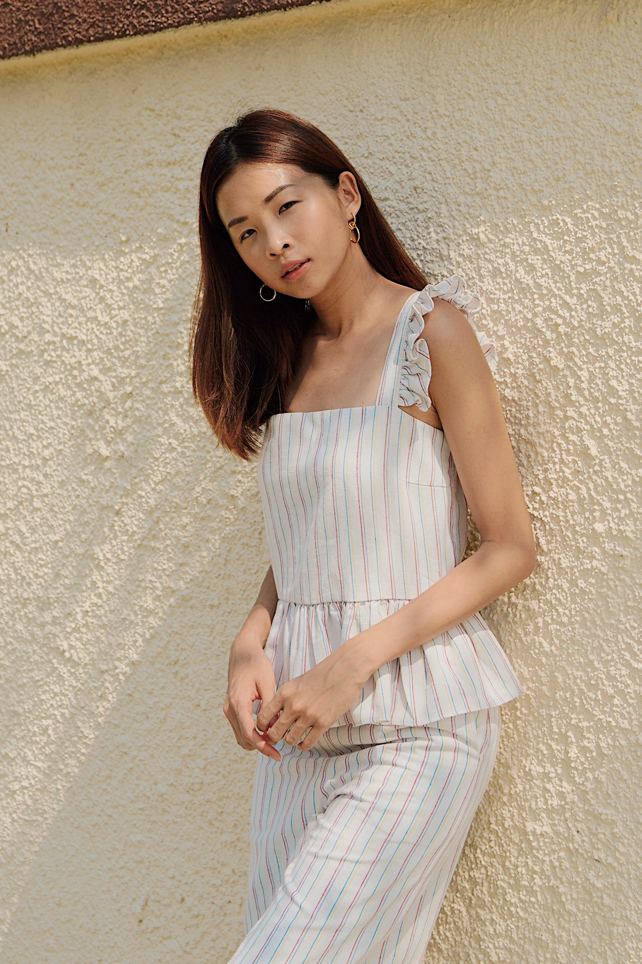 Elenn Linen Stripes Top