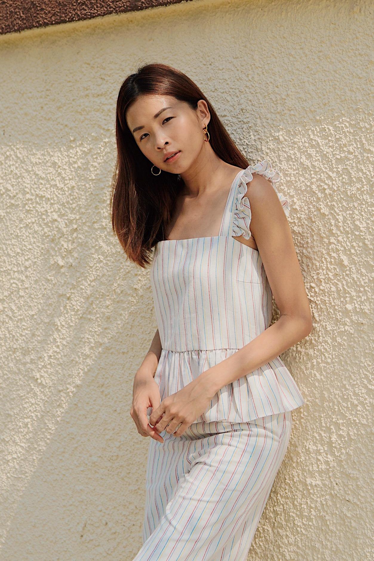 Elenn Linen Stripes Top