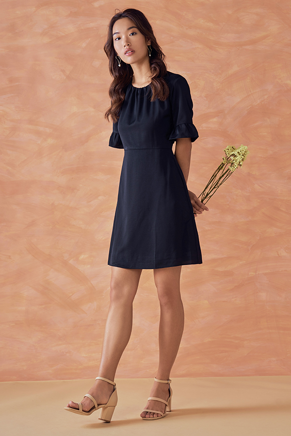 Rinna Ruffled Sleeves Dress