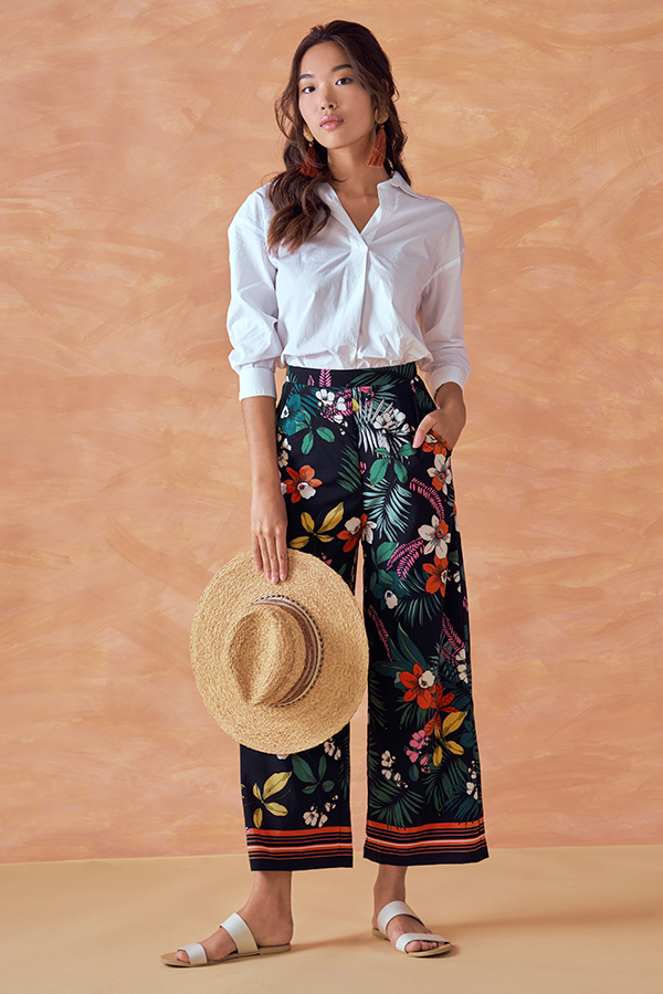 *Backorder* Nordic Floral Printed Culottes