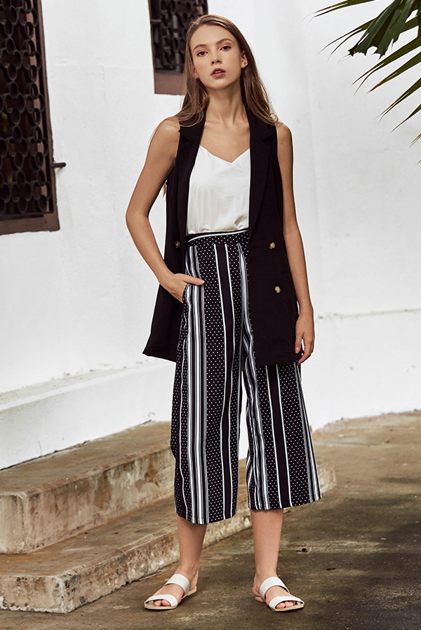 Tarise Stripes Dotted Culottes