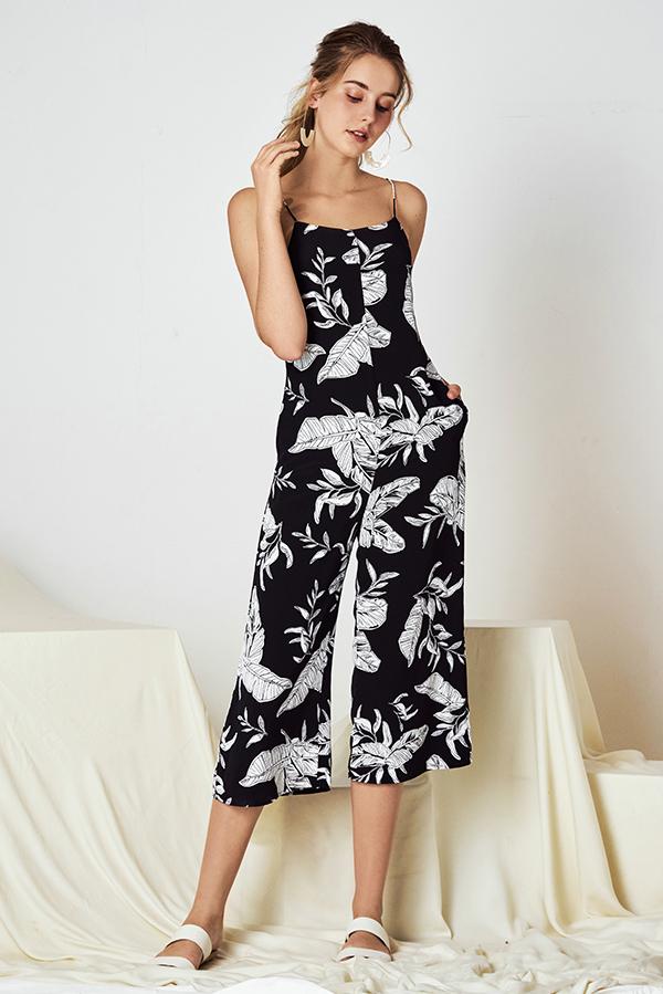 Ranisa Floral Printed Culottes Romper