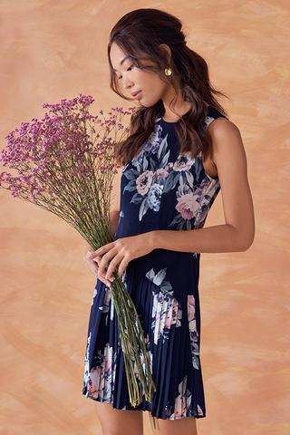 Laureen Floral Printed Pleated Dress