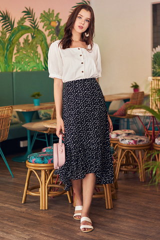 Derrine Dotted Midi Skirt
