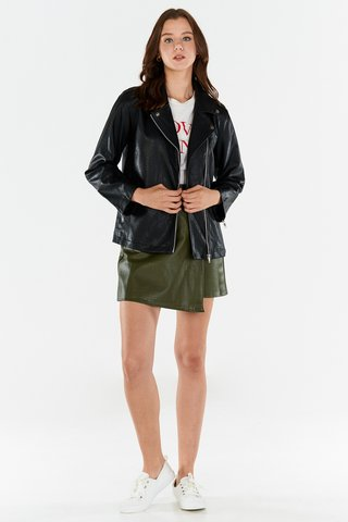 Coundrey Leather Skirt