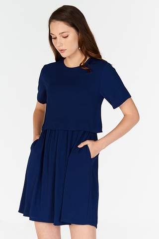 Eunicia Dress in Navy