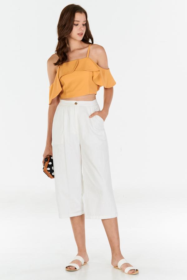 Venisa Linen Culottes in White
