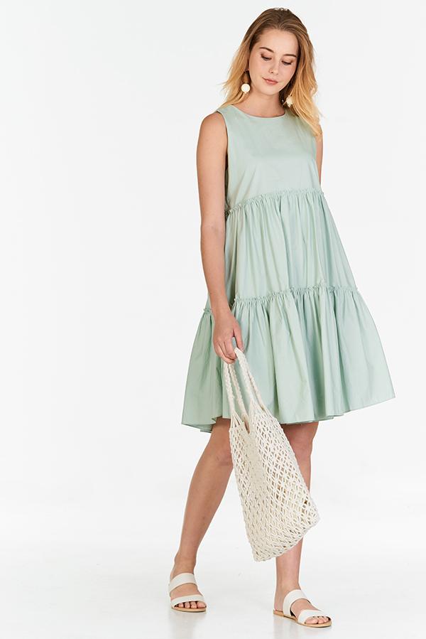 Lerene Dress in Spring Mint