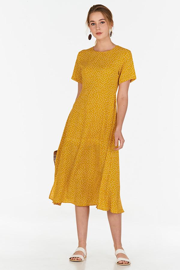 Wrap around Dresses Light Yellow