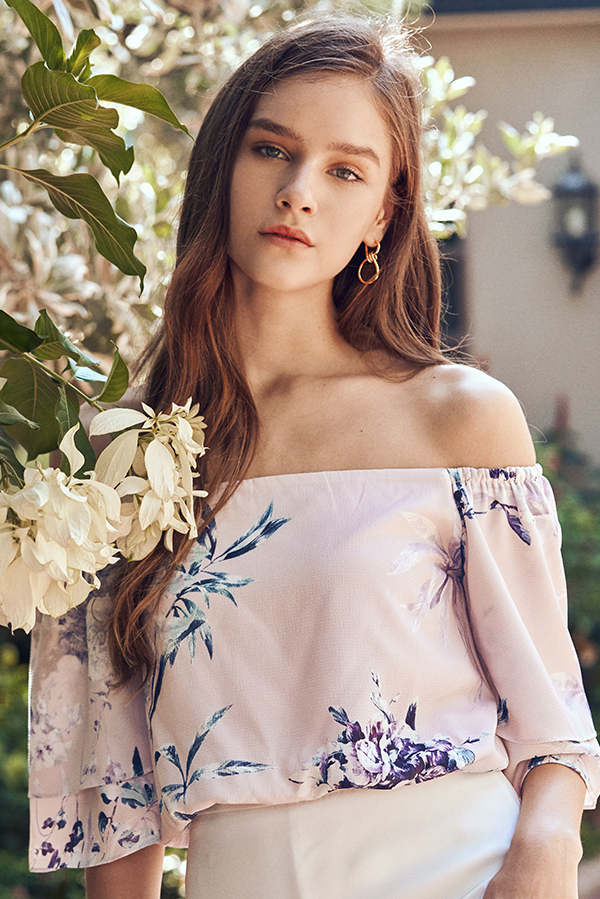 Elizabeth Floral Printed Off Shoulder Top