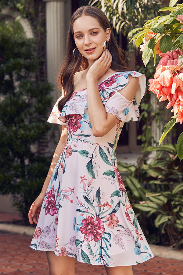 Nirisa Floral Printed Dress
