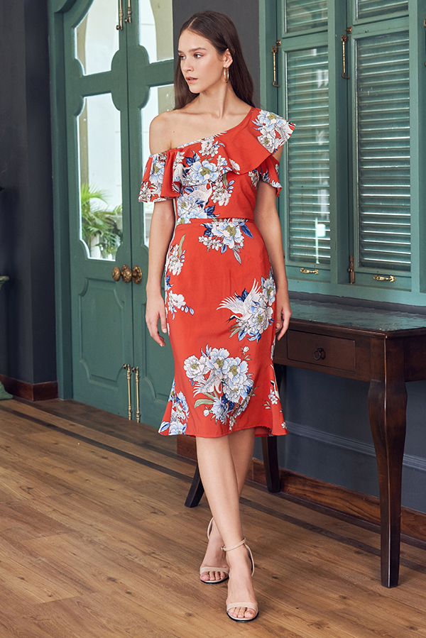 Ethel Floral Printed Midi Skirt