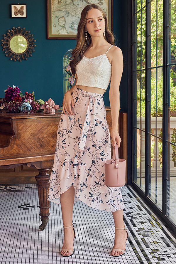 *Restock* Charlee Floral Printed Midi Skirt