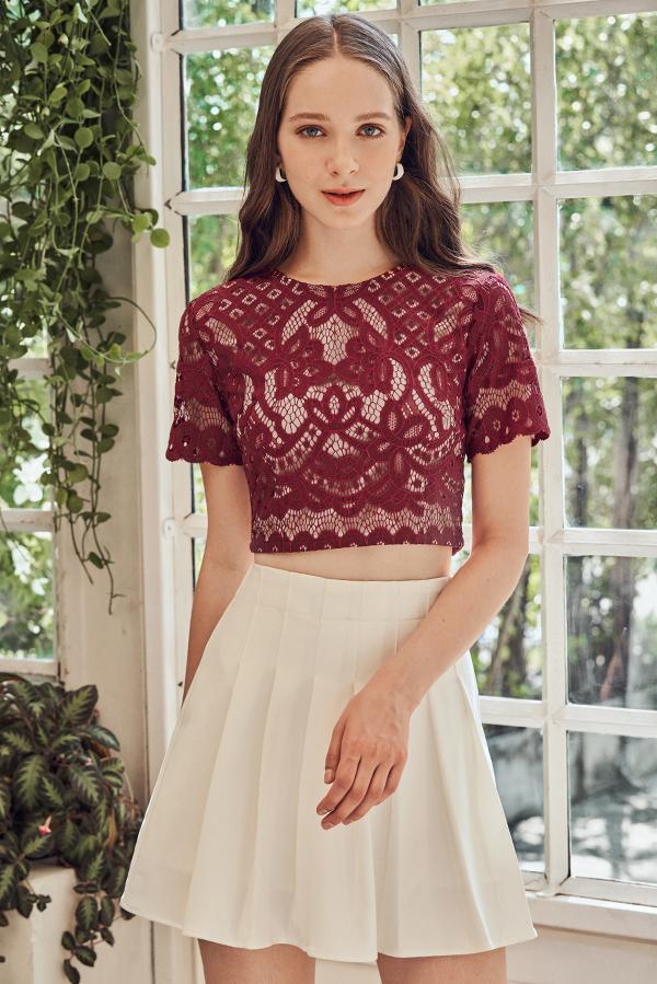 Leona Crochet Top