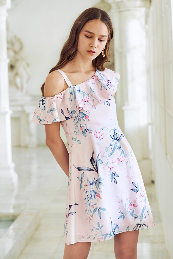 Carrin Floral Printed Ruffled Dress