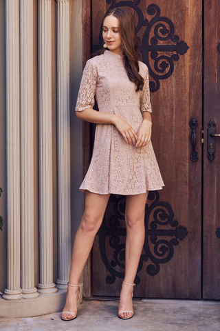 Soreen Crochet Dropwaist Dress