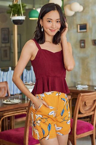 Carola Floral Printed Shorts