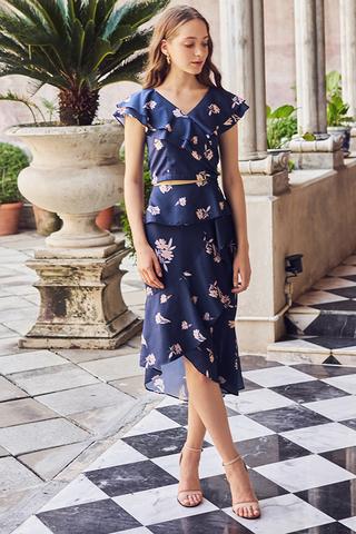 Ainsley Floral Printed Midi Skirt