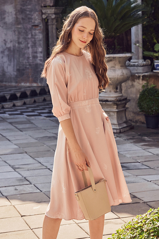 Gracelyn Floral Printed Midi Dress