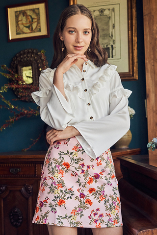 Jenn Ruffled Shirt