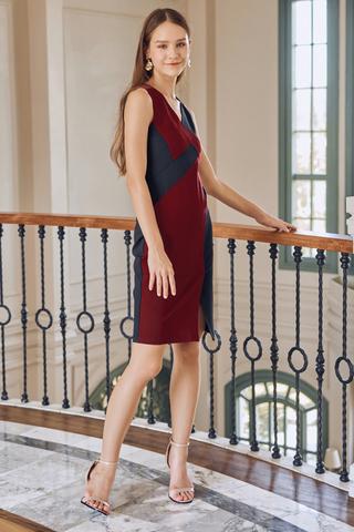 Alyin Colourblock Dress