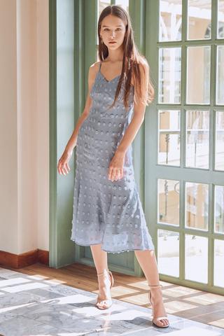 Madeleine Midi Dress in Periwinkle