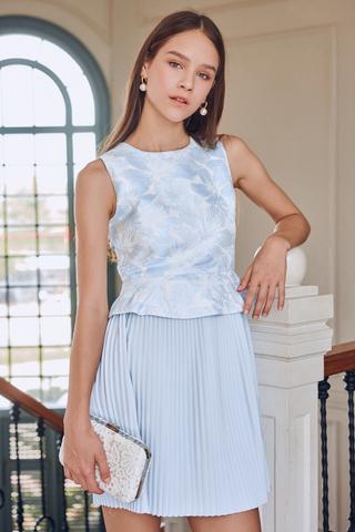 Odette Embossed Pleated Dress