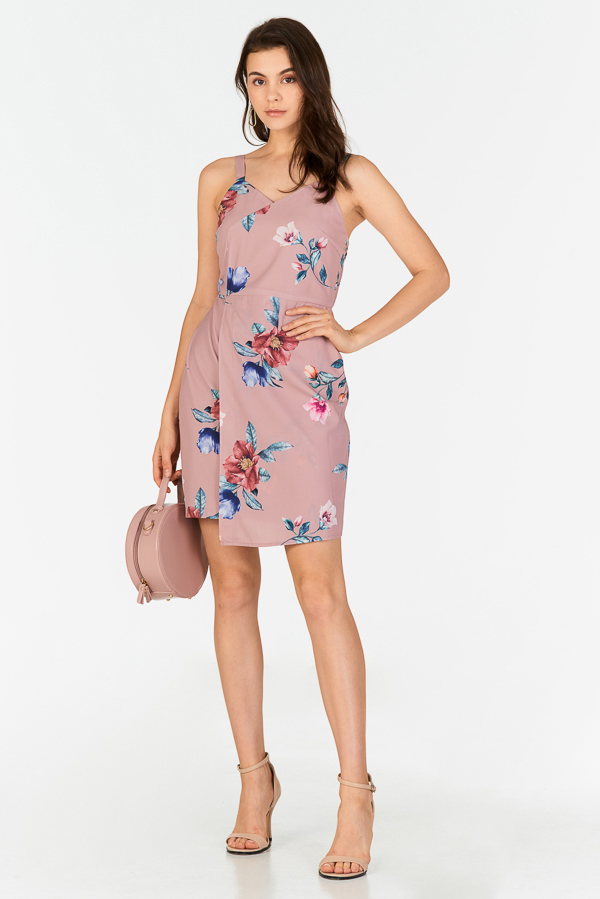 Louella Floral Printed Dress in Pink