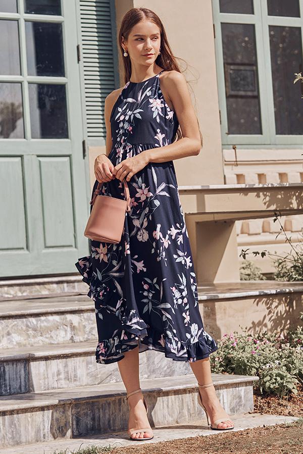 Ferinda Floral Printed Midi Dress