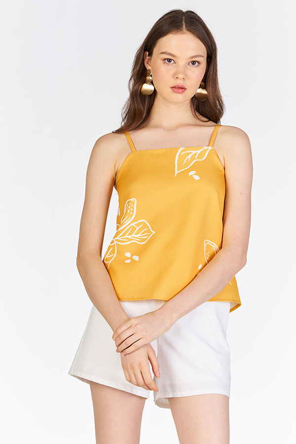 Anneth Printed Top in Marigold