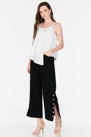 Mayene Side Slit Culottes in Black