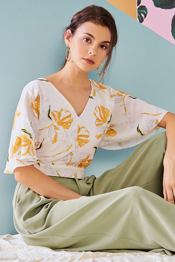 Ellsa Floral Printed Top