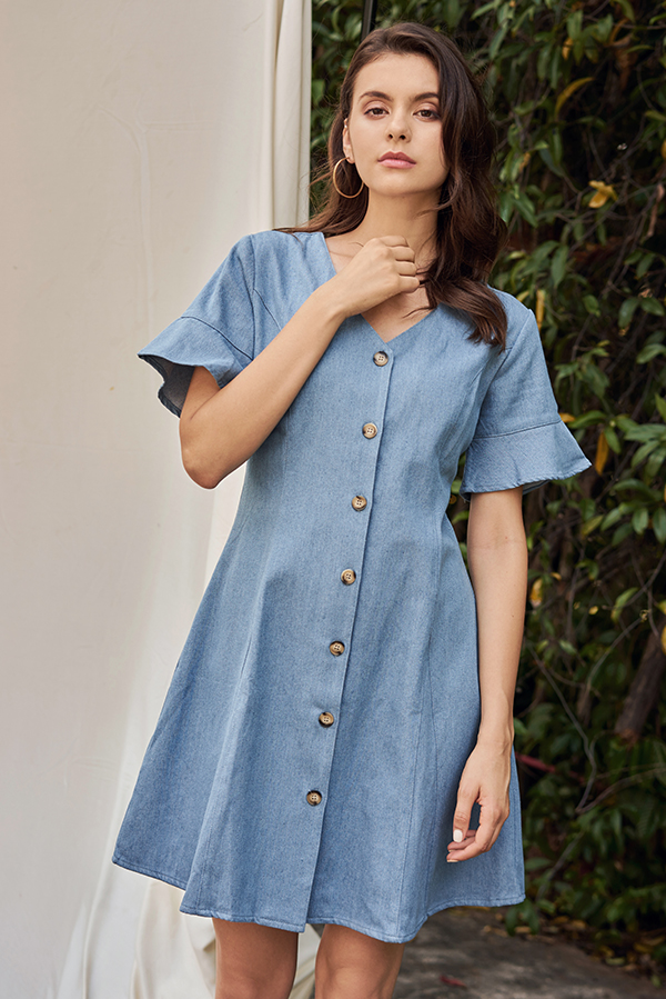 Rolanna Button Down Denim Dress