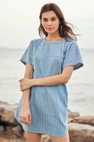 Jeran Stripes Linen Dress