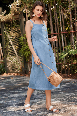 Rolanna Denim Midi Dress