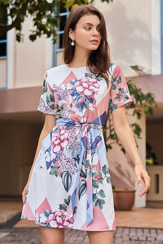 Shania Floral Printed Dress