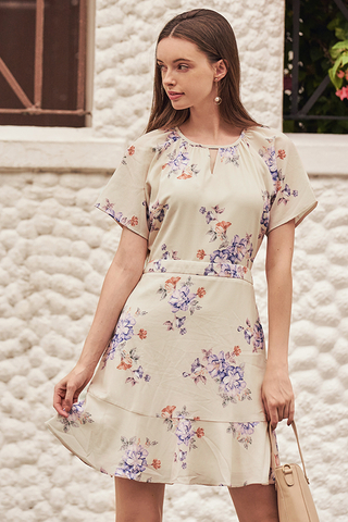 Chandler Floral Printed Sleeved Dress