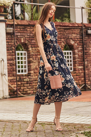 Natasha Floral Printed Midi Dress