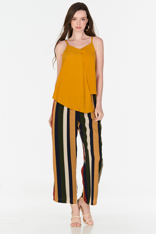 Caron Asymmetrical Top in Mustard