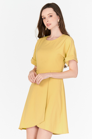 Demi Asymmetrical Dress in Daffodil