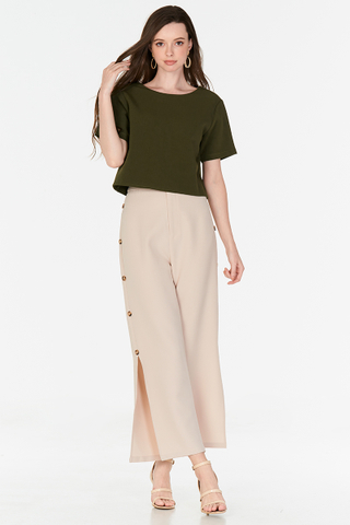Theodora Two Way Top in Olive