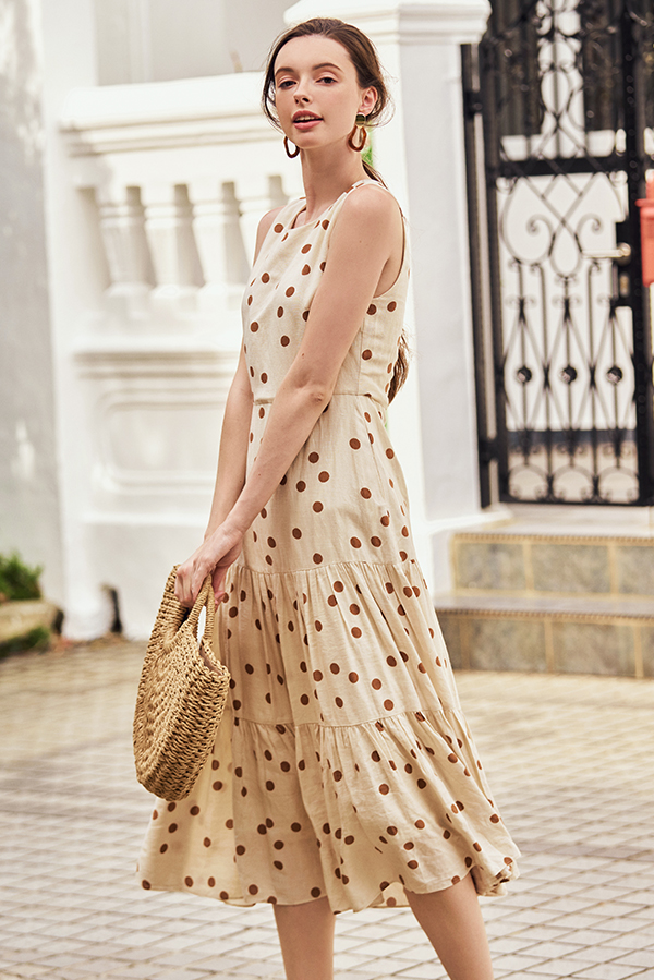 Mirana Dotted Midi Dress