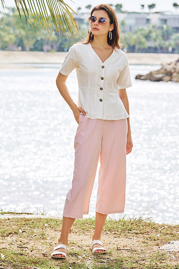 Vilda Stripes Culottes in Pink
