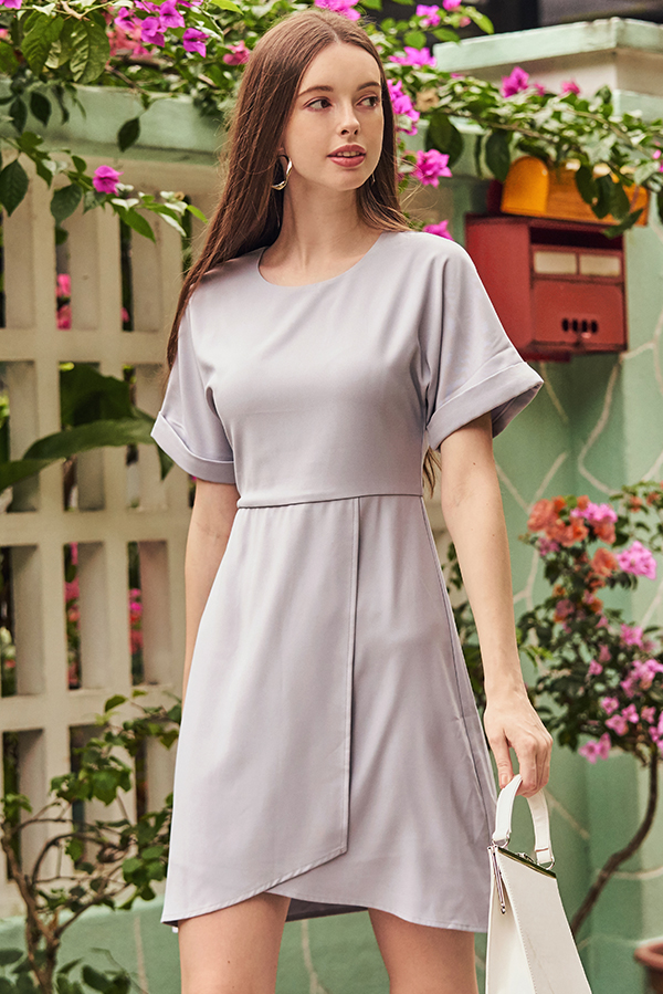 Demi Asymmetrical Dress in Lilac