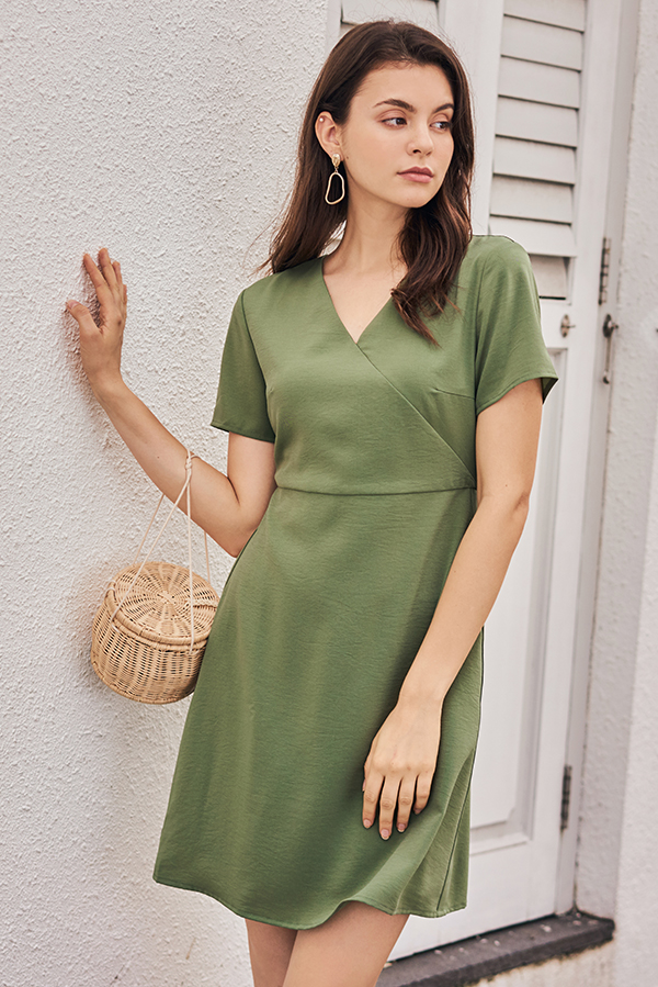 Kendyce Dress in Sage