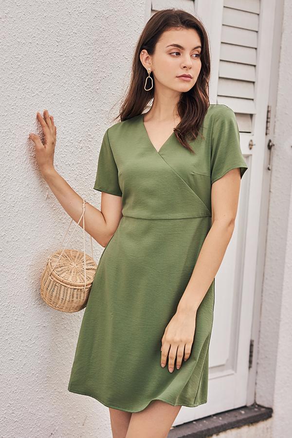 Kendyce Dress in Sage