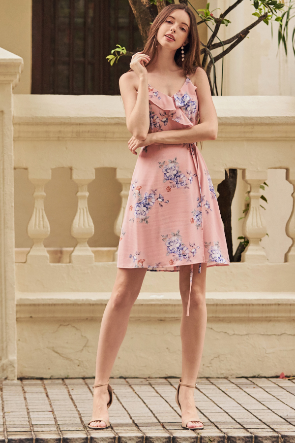 Chandler Ruffled Floral Printed Dress