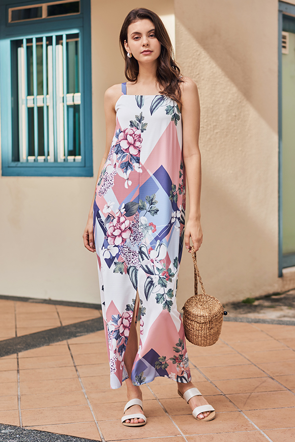 Shania Floral Printed Maxi Dress