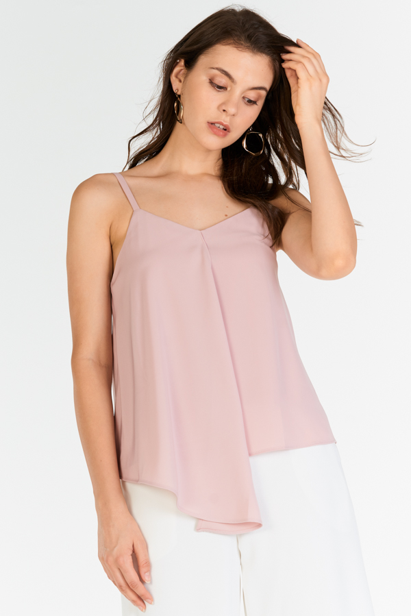 Caron Asymmetrical Top in Pink